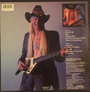 "Johnny Winter ""Winter of '88"" backside"